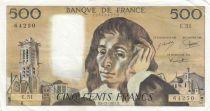 France 500 Francs Pascal - 05-12-1974 Série E.51 - SUP