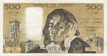 France 500 Francs Pascal - 06-01-1972 Série V.28 - TTB