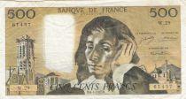 France 500 Francs Pascal - 06-01-1972 Série W.29 - TTB