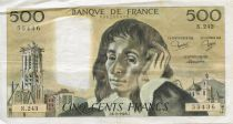 France 500 Francs Pascal - 06-02-1986  Serial N.243 -  F to VF