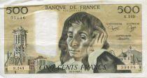 France 500 Francs Pascal - 06-02-1986 Série N.243 - PTTB