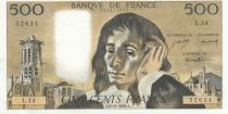 France 500 Francs Pascal - 06-11-1969 - L.14