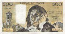 France 500 Francs Pascal - 06-11-1969 - Série Q.14 - TB