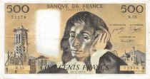 France 500 Francs Pascal - 06-11-1975  Serial R.55 - VF