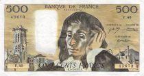 France 500 Francs Pascal - 06-12-1973 - Série F.40 - PTTB