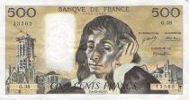 France 500 Francs Pascal - 06-12-1973 - Série O.38 - PTTB