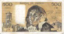 France 500 Francs Pascal - 06-12-1973 Serial G.36 - VF