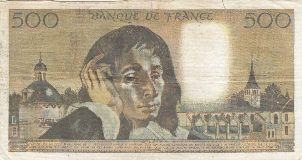 France 500 Francs Pascal - 06-12-1973 Série K.37 - TB+