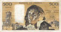 France 500 Francs Pascal - 06-12-1973 Série L.34 - TTB