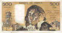 France 500 Francs Pascal - 06-12-1973 Série P.33 - TTB