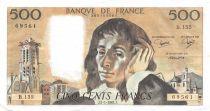 France 500 Francs Pascal - 07-01-1982  Serial B.155 -  XF