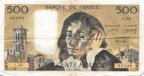 France 500 Francs Pascal - 08-01-1970 Série L.16 - PTTB