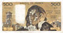 France 500 Francs Pascal - 08-01-1970 Série Q.17 - TTB