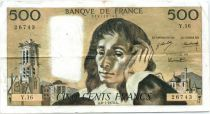 France 500 Francs Pascal - 08-01-1970 Série Y.16 - TB+