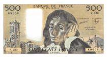 France 500 Francs Pascal - 08-01-1987 - Série K.250 - SPL