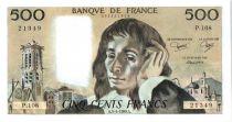 France 500 Francs Pascal - 3-4-1980 - P.108