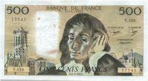 France 500 Francs Pascal - années diverses 1981 à 1993