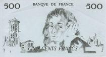 France 500 Francs Pascal - Epreuve taille douce uniface - SUP