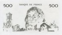 France 500 Francs Pascal - single-sided intaglio test print - aUNC