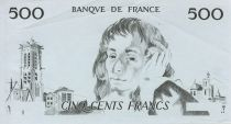 France 500 Francs Pascal - single-sided intaglio test print - XF
