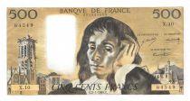France 500 Francs Pascal - St Jacques Tower - 02-01-1969 - Serial X.10 - AU