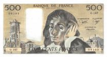France 500 Francs Pascal - St Jacques Tower - 02-06-1983 - Serial O.187 - XF