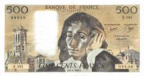 France 500 Francs Pascal - St Jacques Tower - 02-06-1983 - Serial Z.191 - XF