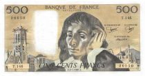 France 500 Francs Pascal - St Jacques Tower - 02-07-1981 - Serial T.146 - XF