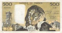 France 500 Francs Pascal - St Jacques Tower - 02-12-1971 - Serial T.26 - F