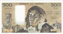 France 500 Francs Pascal - St Jacques Tower - 03-02-1977 - N.72 - UNC