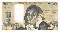 France 500 Francs Pascal - St Jacques Tower - 03-02-1977 - Serial F.67 - VF+