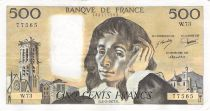 France 500 Francs Pascal - St Jacques Tower - 03-02-1977 - Serial W.73 - VF+