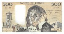 France 500 Francs Pascal - St Jacques Tower - 03-03-1988 - Serial U.273 - XF
