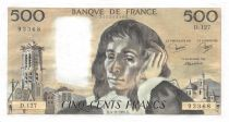 France 500 Francs Pascal - St Jacques Tower - 04-09-1980 - Serial D.127 - XF+