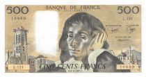 France 500 Francs Pascal - St Jacques Tower - 04-09-1980 - Serial L.121 - XF