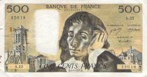 France 500 Francs Pascal - St Jacques Tower - 05-08-1971 - Serial S.25 - VG to F