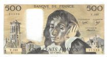 France 500 Francs Pascal - St Jacques Tower - 05-08-1982 - Serial V.160 - XF