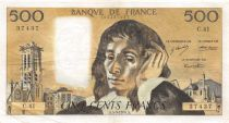 France 500 Francs Pascal - St Jacques Tower - 05-09-1974 - Serial C.41 - VF