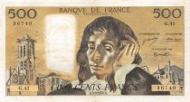 France 500 Francs Pascal - St Jacques Tower - 05-09-1974 - Serial G.41 - VF