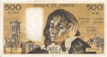 France 500 Francs Pascal - St Jacques Tower - 05-09-1974 - Serial H.43 - VF