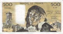 France 500 Francs Pascal - St Jacques Tower - 05-09-1974 - Serial Q.45 - VF+