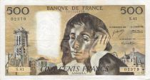France 500 Francs Pascal - St Jacques Tower - 05-09-1974 - Serial S.41 - F+
