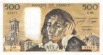 France 500 Francs Pascal - St Jacques Tower - 05-12-1974 - Serial E.46 - VF