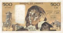 France 500 Francs Pascal - St Jacques Tower - 05-12-1974 - Serial G.49 - VF