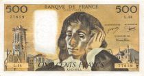 France 500 Francs Pascal - St Jacques Tower - 05-12-1974 - Serial L.44 - VF