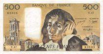 France 500 Francs Pascal - St Jacques Tower - 05-12-1974 - Serial V.47 - VF