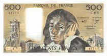 France 500 Francs Pascal - St Jacques Tower - 06-01-1983 - Serial G.175 - XF