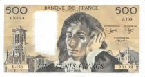 France 500 Francs Pascal - St Jacques Tower - 06-01-1983 - Serial U.168 - XF