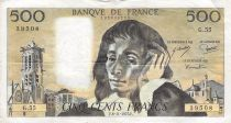 France 500 Francs Pascal - St Jacques Tower - 06-11-1975 - Serial G.55 - F
