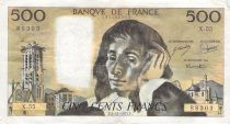 France 500 Francs Pascal - St Jacques Tower - 06-11-1975 - Serial X.55 - F